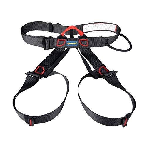 iTECHOR Harness, iTECHOR Multipurpose Outdoor Half-body Adjustable Outdoor Mountain Climbing Safety Belt Harness Equipment-black