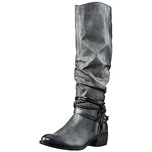 MARCO TOZZI Damen 25507 Stiefel, Grau (Dk.Grey A.Comb), 39 EU