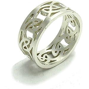 Sterling silber 925 Ring Keltischer Knoten Band Empress Größe 52 - 74