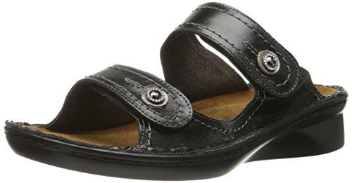 Naot Damen Schuhe Pantoletten Sitar Echt-Leder schwarz Wechselfußbett 15602, Größe:37