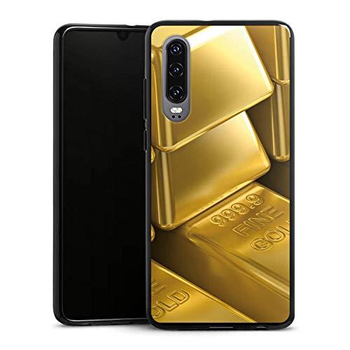 DeinDesign Silikon Hülle kompatibel mit Huawei P30 Case Schutzhülle Goldbarren Gold Barren