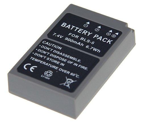 Preisvergleich Produktbild Battery Pack für BLS-5, 7.4V, 900mAh, 6.7Wh, Li-Ion kompatibel mit: Olympus BLS5, Olympus BLS-5, Olympus BLS-50