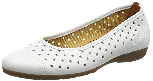 Gabor Ruffle, Ballerine da donna Bianco (White Leather)