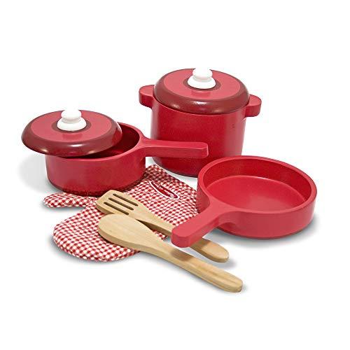 Melissa & Doug Set di Accessori per Cucina Legno Colore Rosso 2610
