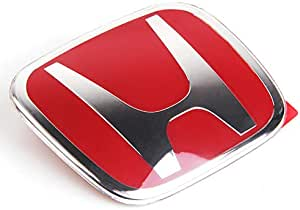 Shawng 53mm 50mm Lenkradmitte Emblem Für Honda Logo Aufkleber Civic Accord Crv Hrv Fit Jazz City Odyssee Jade Vezel Rot 50x40mm Küche Haushalt