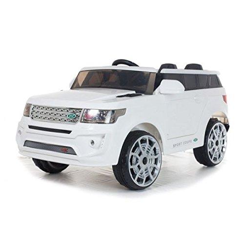 4x4 Blanc Sport Coupe 12V Style Range - Voiture Electrique Pour Enfants