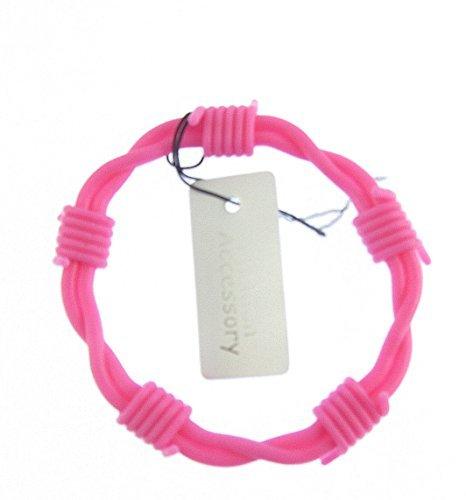 herren/jungen rosa silikon stacheldraht armreif
