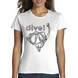 tostadora - Tee Shirt Plonger - Femme Blanc L