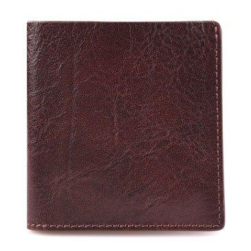 Ultra dünne Brieftasche, kurze, echte, handgemachte, retro, horizontal, Etui, Leder, Tasche, schwarz Coffee