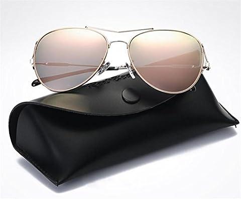 JJH-ENTER Des lunettes de soleil Mme Coloré mode Branché Lumière polarisée des lunettes de soleil Créatif métal Des lunettes de soleil , powder