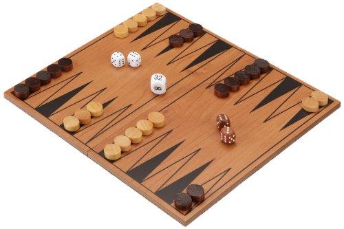Philos 1138 - Backgammon-Set, klappbares Spielbrett, Reisespiel