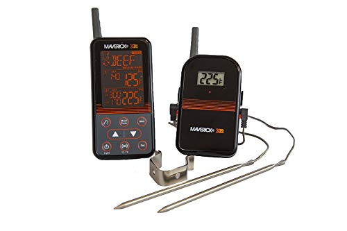 Maverick XR-40 Barbecue Funk-Thermometer Set Schwarz
