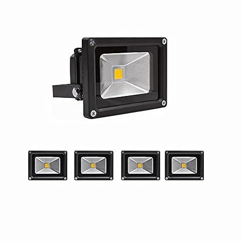 SAILUN 10W LED Fluter Kaltweiß Strahler Licht Scheinwerfer Außenstrahler Wandstrahler Aluminium IP65 Wasserdicht 5 Stück