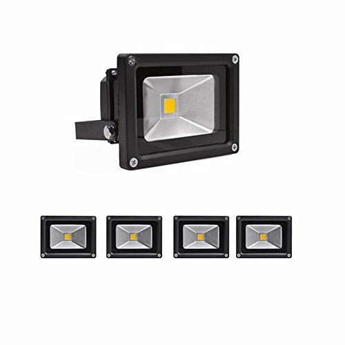 SAILUN 10W LED Fluter Kaltweiß Strahler Licht Scheinwerfer Außenstrahler Wandstrahler Aluminium IP65 Wasserdicht 5 Stück Schwarz