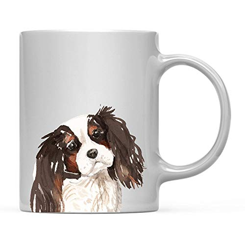 TANGGOOD 11oz. Hund Kaffee-Haferl Geschenk, Tri Color King Charles Spaniel hautnah, 1er-Pack, Haustier Tierliebhaber Geburtstag Familie - 1 Pack Tri-color