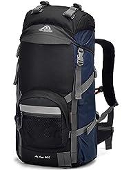 Morral impermeable al aire libre senderismo bolsa mochila de gran capacidad 50L , blue