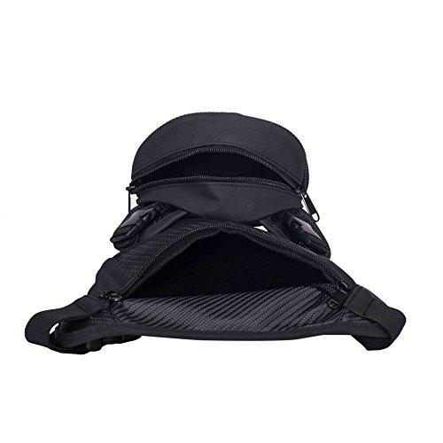 Motorrad Bein Tasche wasserdicht Taille und beinschnüren Oberschenkel Pack für Motorrad Radfahren oder Wandern/Klettern/Angeln Outdoor Aktivitäten Black TB004