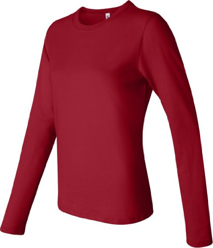 Bella Leinwand Ladies'Jersey Long Sleeve T-Shirt Rot