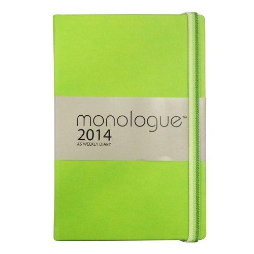 Grandluxe Monologue Diary 8.3-Inch x 5.5-Inch, Fern (701079)