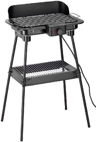 Rosenstein & Söhne Elektrischer Grill: Elektrischer 2in1-Stand- und Tischgrill, 2.000 Watt (Elektrostandgrill)
