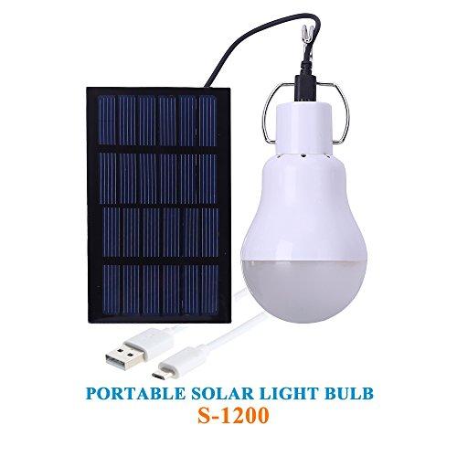 KK.BOL Tragbar Solarlampe,Stromversorgung durch Solarpanel LED-Leuchtmittel,weiß 15.00W 3.70V