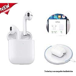 2019 Nuevo Auriculares Inalámbricos Bluetooth 5.0 con Micrófono Estéreo Superior,Auricular Súper Mini para Android/iOS/PC/iPad, Compatible con Pop-Up Conexión/Siri/Carga Inalámbrica(Bl-20)