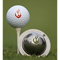 Tin Cup–Marcador de bola de golf (muchos estilos a elegir), En Fuego