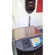 balanza bascula con impresora de ticket programable y torre alta