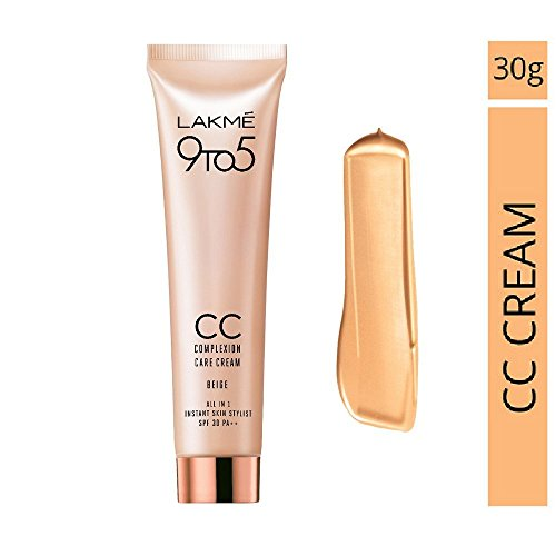 Lakme 9 to 5 CC Complexion Care Cream All In One Instant Skin Stylist SPF 30 Beige 30 ml  available at amazon for Rs.299