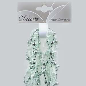Izaneo - Guirlande de perle et ruban vert menthe