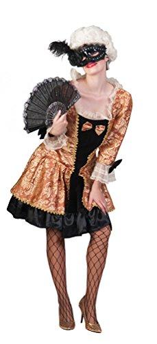okoko Damen Kostüm Barock Kostüm Renaissance Damenkostüm Viktorianisches Kleid kurz sexy Karneval Größe 32/34 (Renaissance-kostüm-muster)