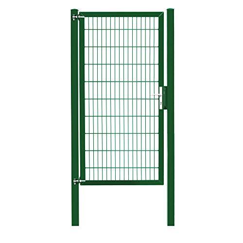 Camas Industrietor ca. 2030 mm x 1000 mm moosgrün (RAL 6005) das robuste Gartentor für Doppelstabmattenzaun