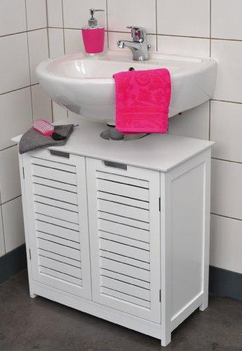 Mueble para debajo del lavabo – 2 puertas y 1 estantería – Diseño puro y sencillo