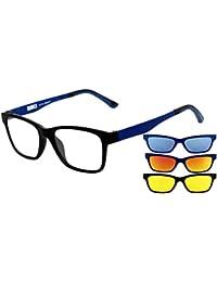 RAINBOW SAFETY Gafas de Sol MagClip Prescritas Gafas de Sol con Clip Polarizado Magnético RMC Red