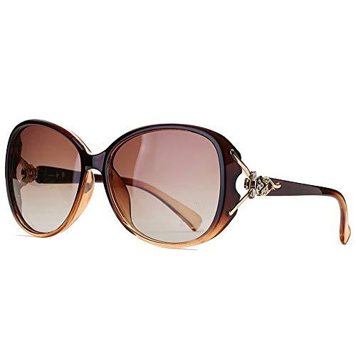 omens Big Frame Polarized Glasses Klassische vielseitige Sonnenbrille Fashion Fox Brille (Color : Tan, Size : Kostenlos) ()