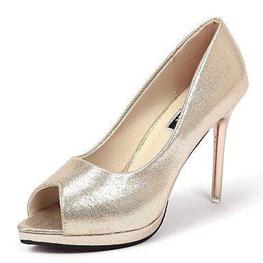 SANMULYH Donne'S Scarpe Molla Di Gomma Rientrano Comfort Tacchi Stiletto Heel Peep Toe Per Esterni Di Rosa In Oro Nero Oro