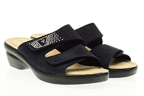 VALLEVERDE pantoufles dame 25311 chaussures bleues Bleu