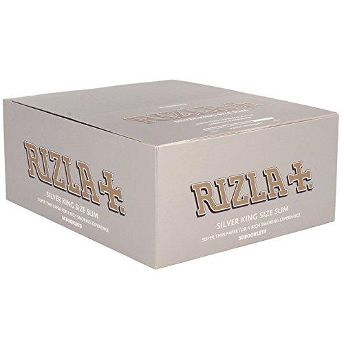 Rizla Silver Zigarettenpapier, überlang, dünn, 50 Stück