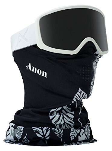 Anon Damen DERINGER Snowboardbrille, Whiteout/Dark Smoke, One Size