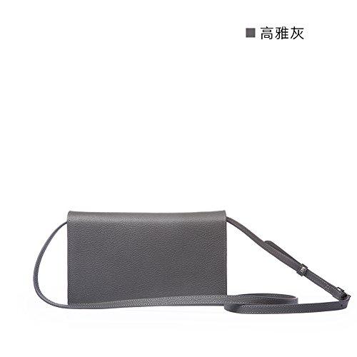 Nouvelle mini sac à main bandoulière en cuir sacs à bandoulière en cuir gris clair, Light Grey