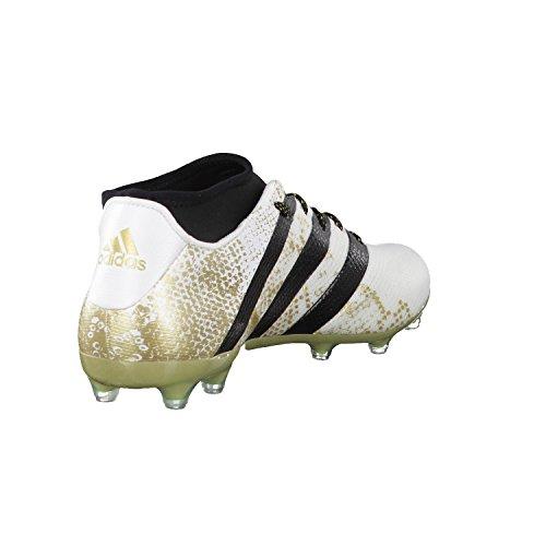 adidas Ace 16.2 Primemesh Fg/Ag, Chaussures de Football Homme Blanco (Ftwbla / Negbas / Dormet)