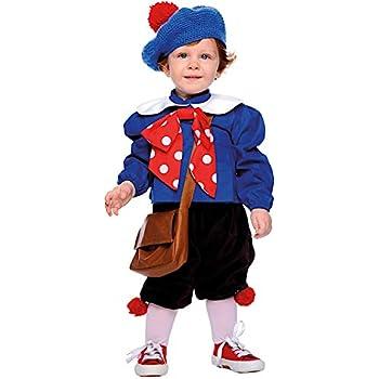 ba29ca47cb3e Costume di Carnevale da PIERINO Neonato Vestito per Neonato Bambino 0-3 Anni  Travestimento Veneziano