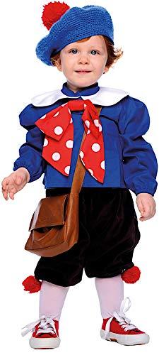 Costume di carnevale da pierino neonato vestito per neonato bambino 0-3 anni travestimento veneziano halloween cosplay festa party 50688 taglia 2