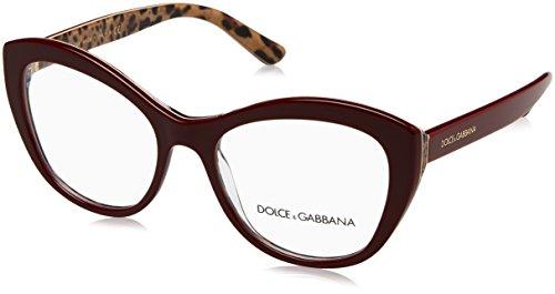 Dolce & Gabbana DG 3284 3156 BORDEAUX ON LEO Brille