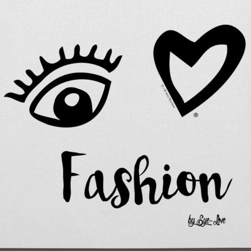 Spreadshirt Eye Love Amo La Borsa In Tessuto Moda Cuore Dichiarazione Bianca