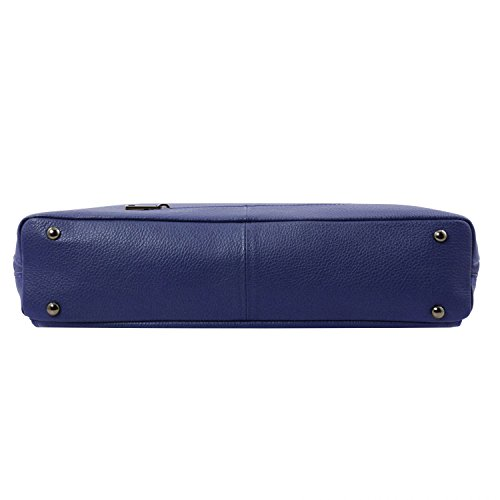 Tuscany Leather - Lucca - Borsa business TL SMART in pelle morbida per donna - TL141630 (Nero) Blu scuro