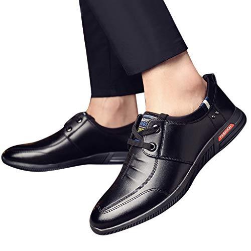 TianWlio Sportschuhe Herren Sneaker Outdoorschuhe Mode Herren Schuhe Business Leder Schuhe Beiläufig Schnürschuh Männliche Anzug Schuhe Schwarz Braun 39-44