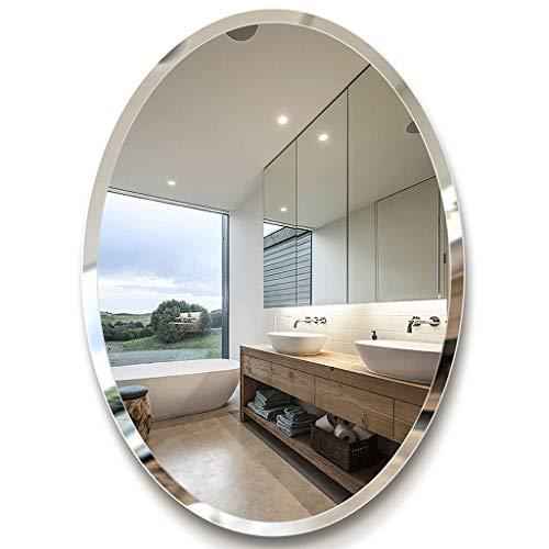 Moderner Schminkspiegel (Wandspiegel Oval, Badspiegel Wandbehang Dekorativer Schminkspiegel Rasierspiegel Moderner Stil - Gold (45x60 cm, 50x70 cm, 60x80 cm))