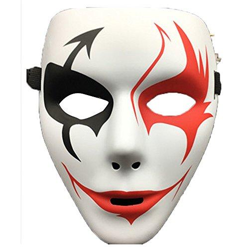 Maskerade,Halloween Make-up Abschlussball Handgemalt White Ghost Dance Maske C Masquerade
