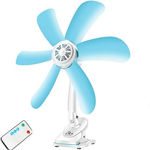 Mini Ventilador de Clip USB pequeño Ventilador de Pared Ventilador de Techo, 5 Palas de aerogenerador...